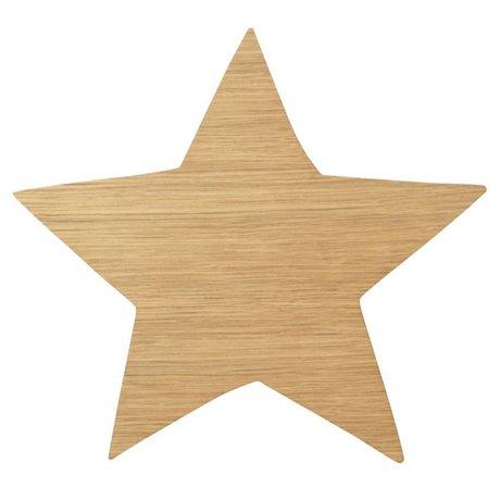 Ferm Living Wandleuchte Star Oiled Oak naturbraunes Holz 6,5x29,8x33cm