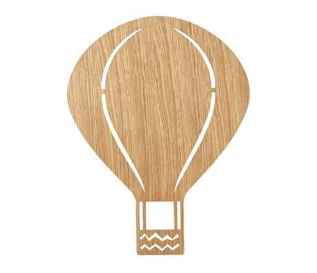Ferm Living Wall lamp Air Balloon Oiled Oak natural brown wood 6,5x26,5x24,5cm