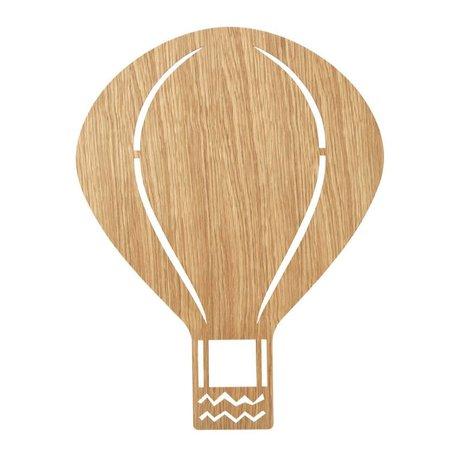 Ferm Living Applique Air Balloon Chêne huilé bois brun naturel 6,5x26,5x24,5cm
