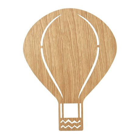 Ferm Living Wandlamp Air Balloon Oiled Oak naturel bruin hout 6,5x26,5x24,5cm