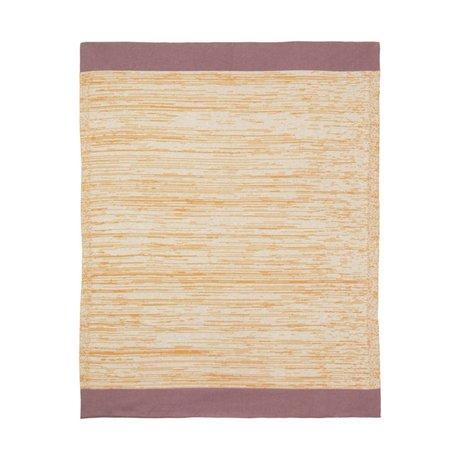 Ferm Living Plaid Dusty Rainbow Blanket Moutarde jaune coton 100x80cm