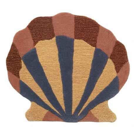 Ferm Living Tapis / housse murale Shell en laine multicolore coton 70x79cm