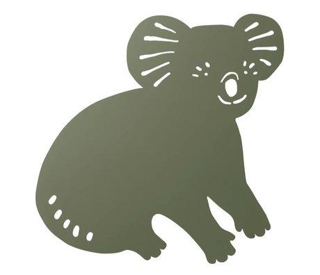 Ferm Living Wandleuchte Koala Dark Olivgrünes Holz 6x30,41x34cm