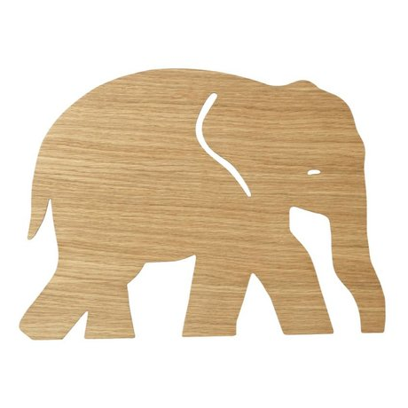 Ferm Living Wall lamp Elephant Oiled Oak natural brown wood 6x35,4x26cm