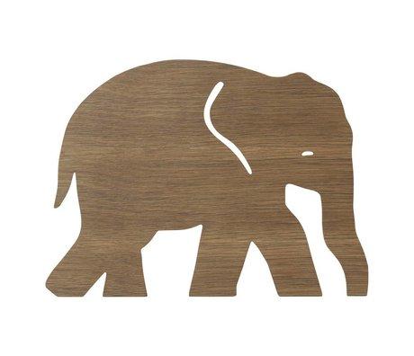 Ferm Living Wandleuchte Elephant Smoked Oak dunkelbraunes Holz 6x35,4x26cm
