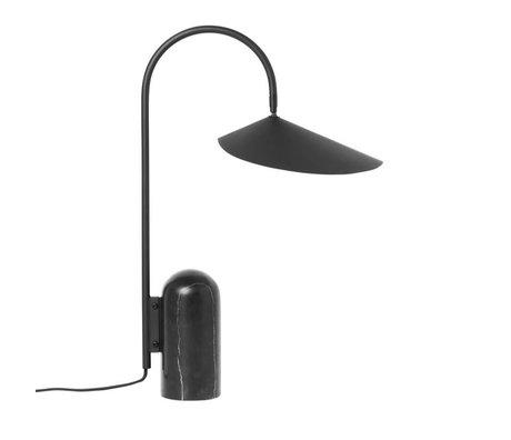 Ferm Living Tafellamp Arum zwart metaal 34x20,5x51cm
