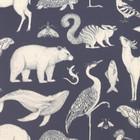 Ferm Living Wallpaper Katie Scott Animals dark blue 10x0,53m