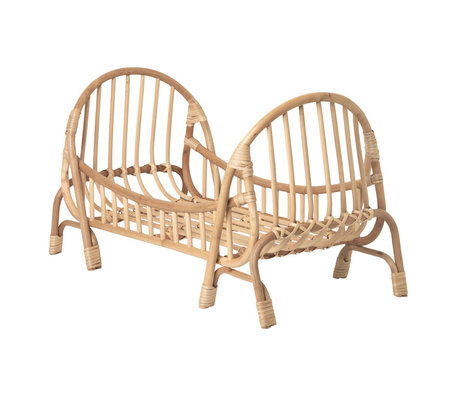 Ferm Living Doll Bed KUKU Doll Bed natural brown bamboo rattan 32x55x35cm