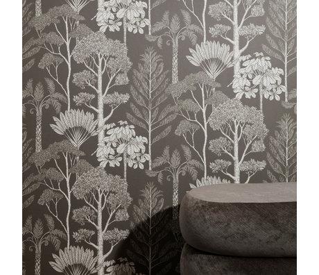 Ferm Living Papier peint Katie Scott Trees brun gris 10x0,53m