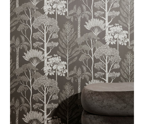 Ferm Living Wallpaper Katie Scott Trees brown gray 10x0,53m