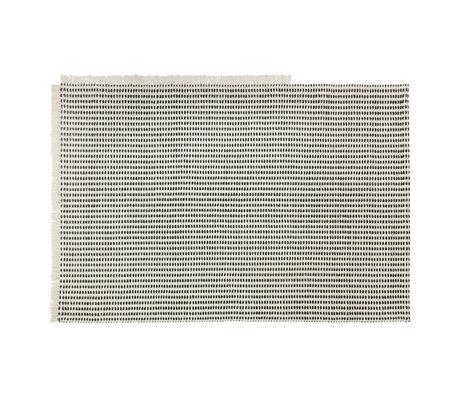 Ferm Living Vloerkleed (tuin) Way Off-White blauw textiel 200x140cm