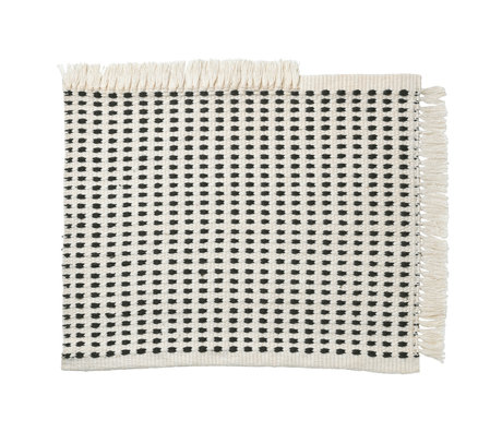 Ferm Living Doormat Way (garden) Off-White blue textile 50x70cm