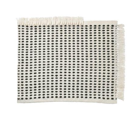 Ferm Living Paillasson Way (jardin) textile bleu blanc cassé 50x70cm