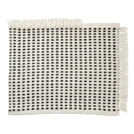 Ferm Living Fußmatte Weg (Garten) Off-White blau Textil 50x70cm