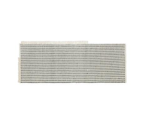 Ferm Living Way Runner Teppich (Garten) Off-White blauer Stoff 180x70cm