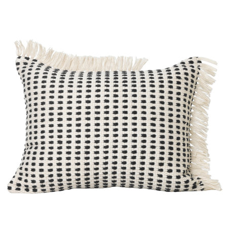 Ferm Living Cushion Way (garden) Off-White blue textile 50x70cm