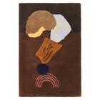 Ferm Living Teppich / Wandverkleidung Verfassen Sie braune Baumwolle 110x70cm