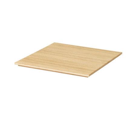 Ferm Living Dienblad voor Plant Box oiled oak naturel bruin hout 26x26x1,2cm