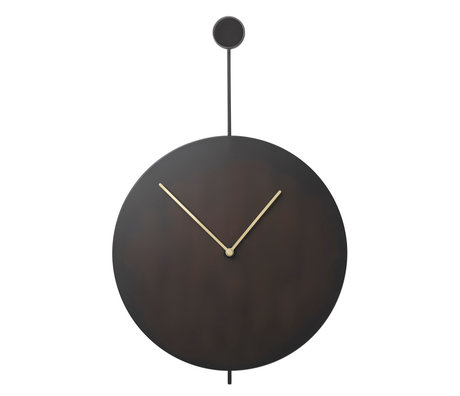 Ferm Living Wank clock Trace black gold steel 26x3x41,2cm