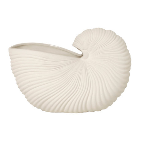 Ferm Living Pot Shell Off-White aardewerk 15x31x21cm