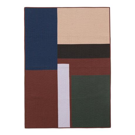 Ferm Living Lebende Decke Shay Patchwork Quilt Zimtbraune Baumwolle 180x130cm