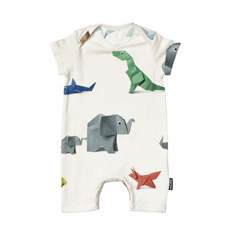 Snurk Beddengoed Romper Paper Zoo cotton size 68