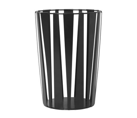 Ferm Living Basket Rob black metal Ø40x28cm
