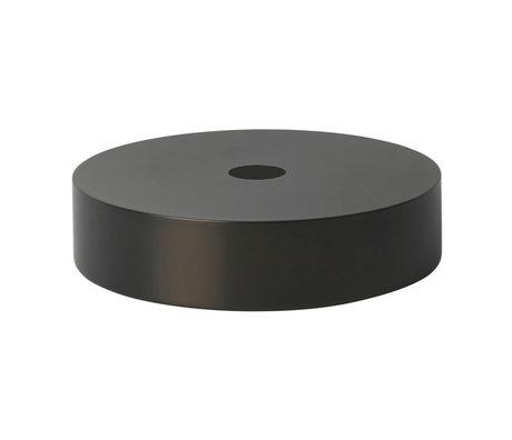 Ferm Living Abat-jour Record en laiton noir doré Ø30x7cm