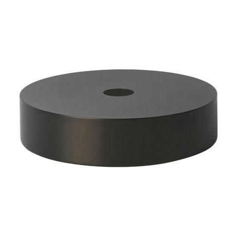 Ferm Living Lampenkap Record zwart brass goud metaal Ø30x7cm