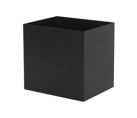 Ferm Living Plant Box Pot zwart metaal 19,4x24x22,5cm