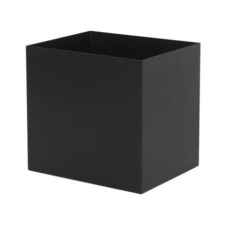 Ferm Living Plant Box Pot métal noir 19,4x24x22,5cm