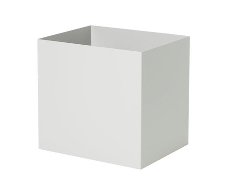 Ferm Living Plant Box Pot licht grijs metaal 19,4x24x22,5cm