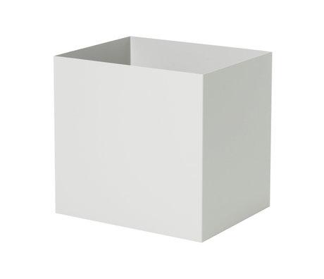 Ferm Living Plant Box Pot light gray metal 19,4x24x22,5cm
