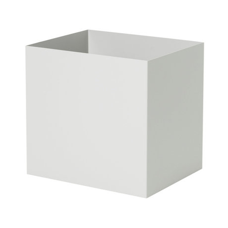 Ferm Living Plant Box Pot en métal gris clair 19,4x24x22,5cm