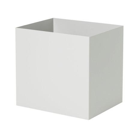 Ferm Living Plant Box Pot hellgrau Metall 19,4x24x22,5cm