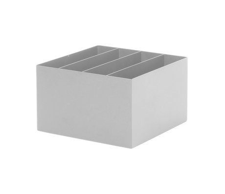 Ferm Living Plant Box Divider licht grijs metaal 24x24x14,8cm