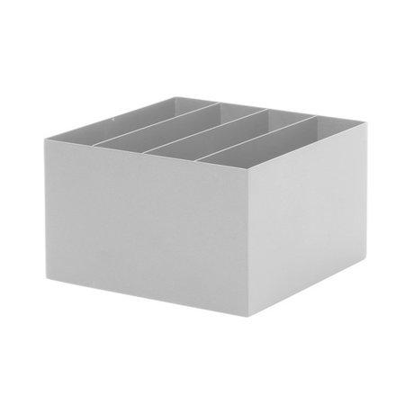 Ferm Living Plant Box Divider métal gris clair 24x24x14,8cm