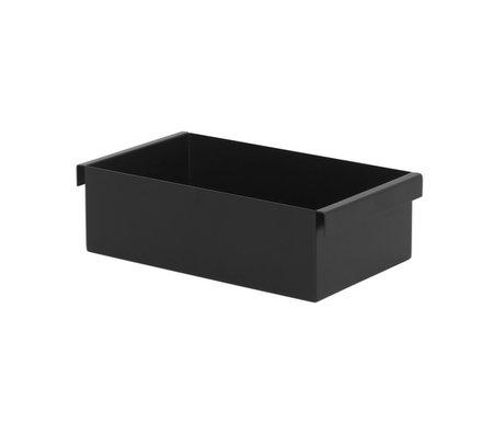 Ferm Living Plant Box Container schwarz Metall 14,7x25,7x7,6cm