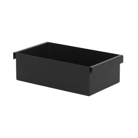 Ferm Living Plant Box Container métal noir 14,7x25,7x7,6cm