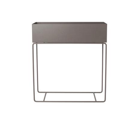 Ferm Living Plant Box chaud métal gris 25x60x65cm