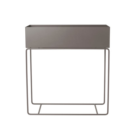 Ferm Living Plant Box warm gray metal 25x60x65cm