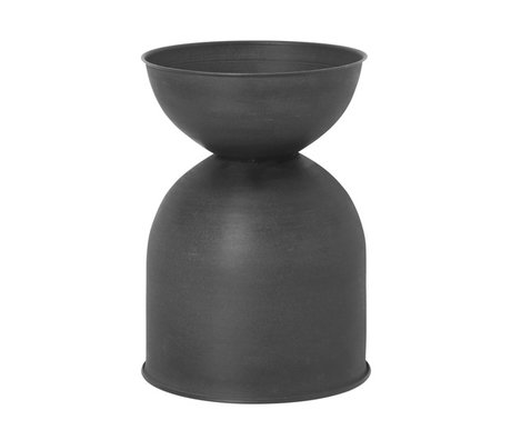 Ferm Living Bloempot Hourglass Small zwart donker grijs 31x42,5cm