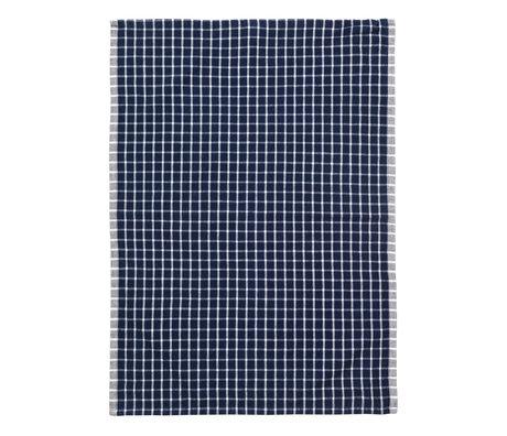 Ferm Living Geschirrtuch Hale Yarn Dyed Linen blau naturweiß 70x50cm