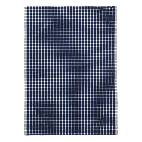 Ferm Living Torchon Hale Yarn Dyed Linen bleu blanc cassé 70x50cm