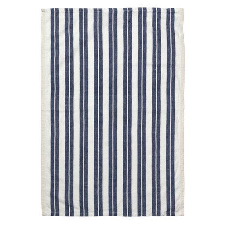 Ferm Living Theedoek Hale Yarn Dyed Linnen  Off-White blauw 70x50cm