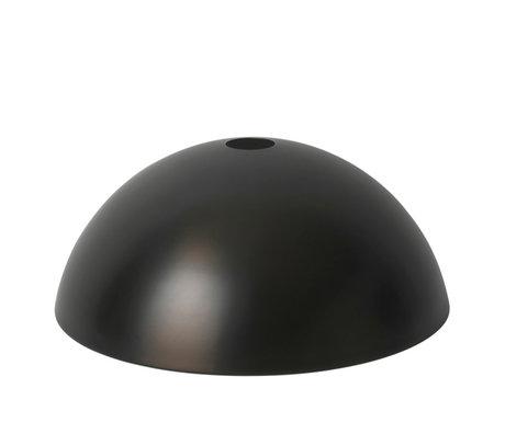 Ferm Living Lampenkap Dome zwart brass goud metaal Ø38x16cm