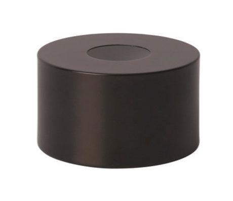 Ferm Living Lampenkap Disc zwart brass goud metaal Ø12x7cm