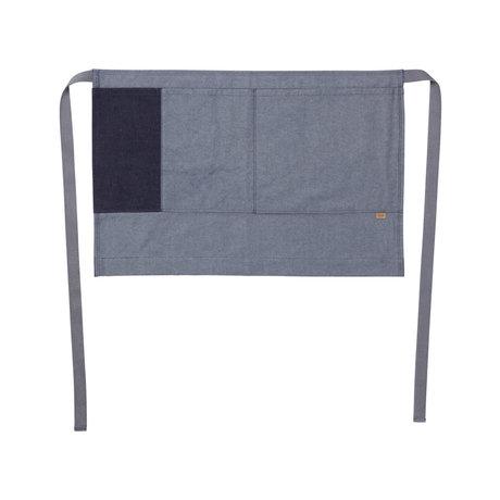 Ferm Living Kochschürze Denim Half Apron blaue Baumwolle 75x50cm