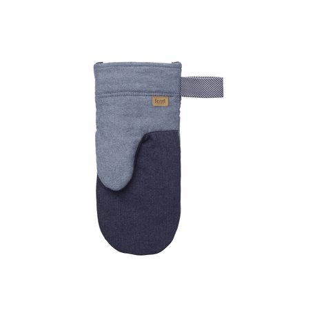 Ferm Living Gant de four Denim Four coton bleu 13,5x28x1cm