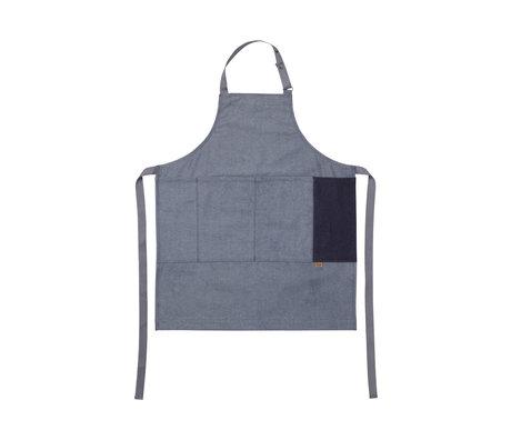 Ferm Living Kochschürze Denim Schürze blau Baumwolle 72x86cm